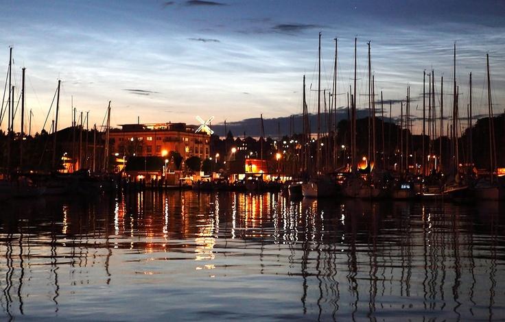 Night in Svendborg harbor