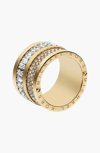 Michael Kors 'Brilliance' Cigar Band Ring available at #Nordstrom