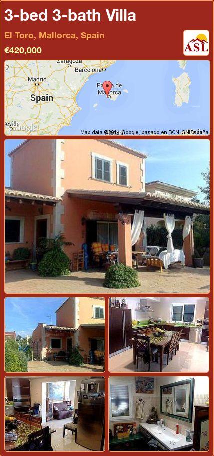 3-bed 3-bath Villa in El Toro, Mallorca, Spain ►€420,000 #PropertyForSaleInSpain
