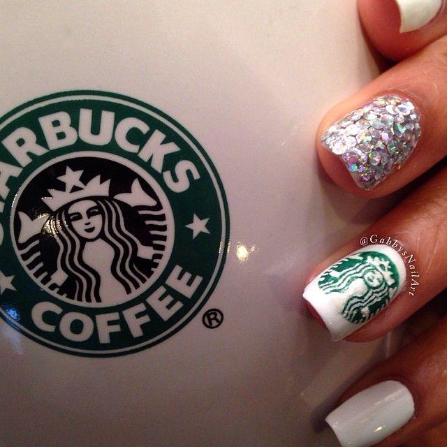 Starbucks Nail Art | Gabby @Gabby Meriles Morris | Websta |