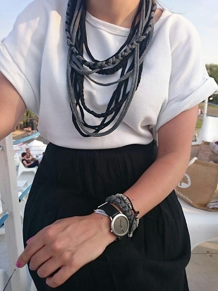 Ecologic cotton necklace