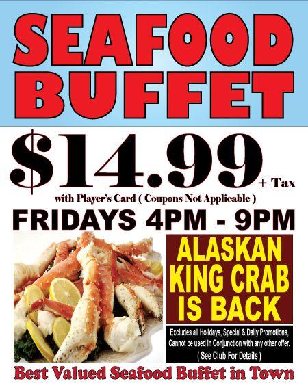 Best Valued Seafood Buffet in Las Vegas! Restaurant nearby Hoover Dam. #RailroadPass