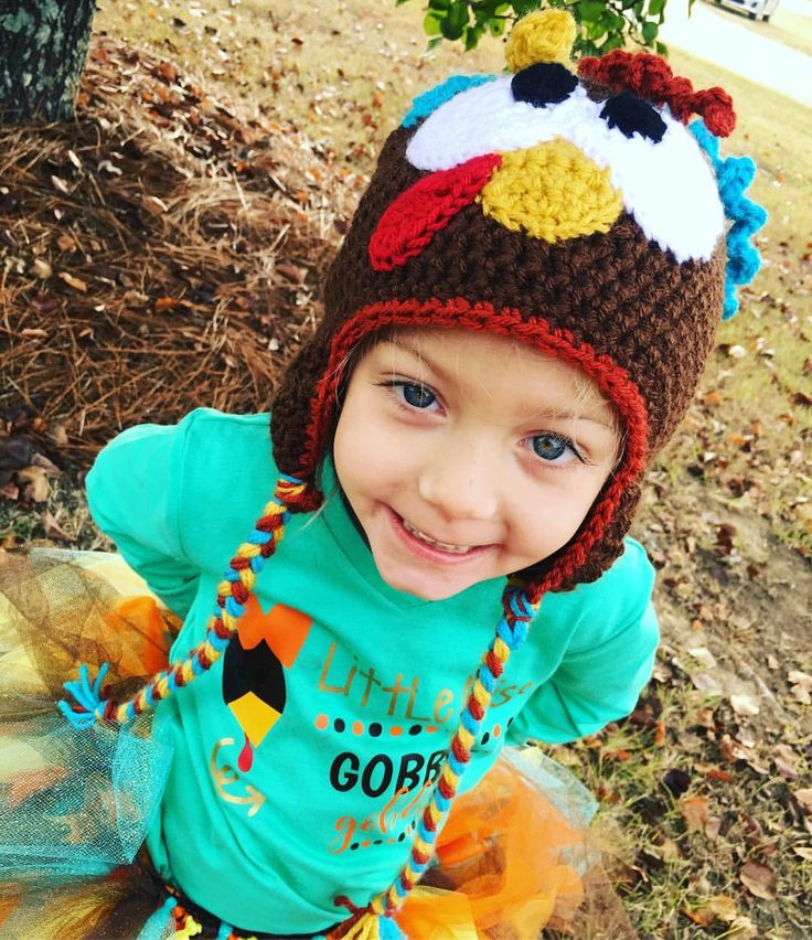 Made to Order Crochet Turkey Hat;  all sizes by Alliehats on Etsy