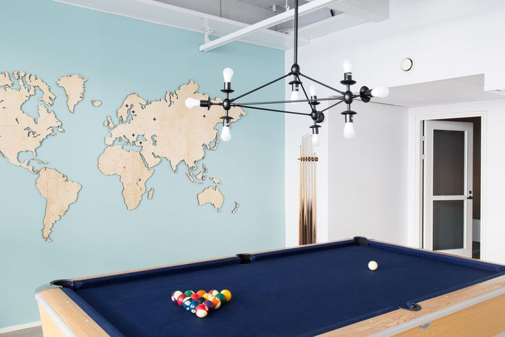 Bonusway office pool table and custom map