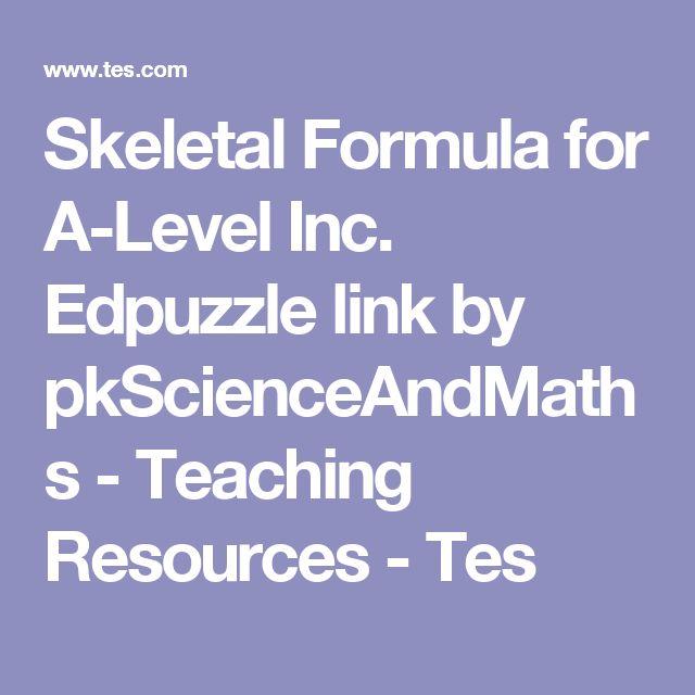Skeletal Formula for A-Level Inc. Edpuzzle link by pkScienceAndMaths - Teaching Resources - Tes
