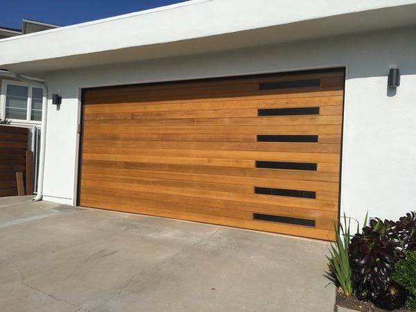 Emilio Modern Style Custom Wood Garage Door Custom Wood Garage Doors Modern Garage Doors Garage Door Design