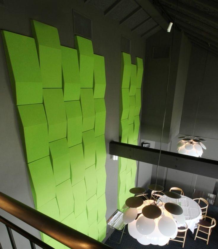 Akustikplatten aus Polyurethan Schaumm in Grün