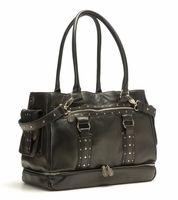 Nest Elliott Leather Diaper Bag in Black (As Seen on Heidi Klum!)  -  SALE (bliss living)