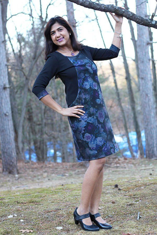 Deepika from Pattern Review in her gorgeous Heather Dress