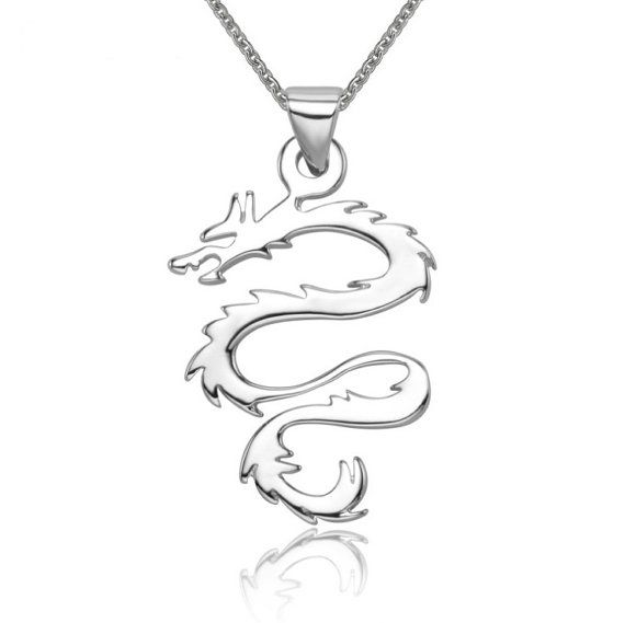 Sterling Silver Pendant Style 22 Dragon by ATHiNGZ on Etsy, $6.99