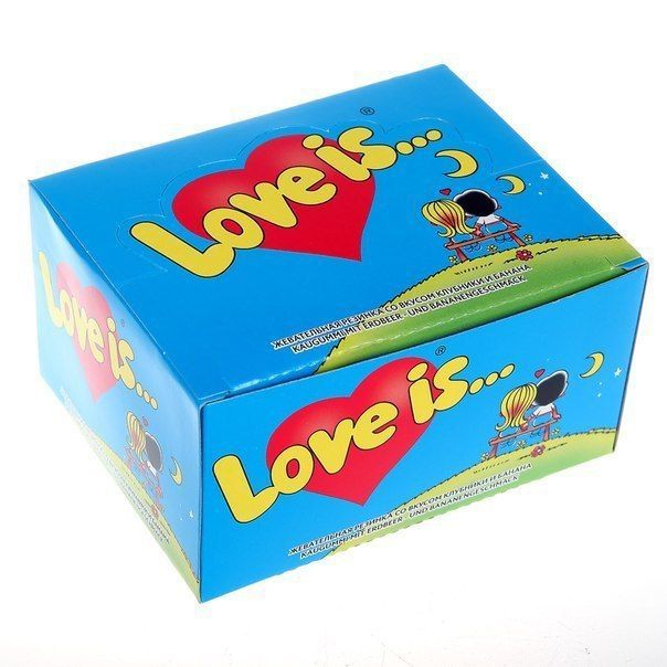 """Блок жвачки Love is """"Клубника-Банан"""""""