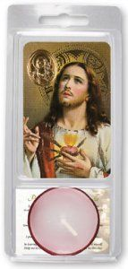 Sacred Heart Votive Candle & Prayer.