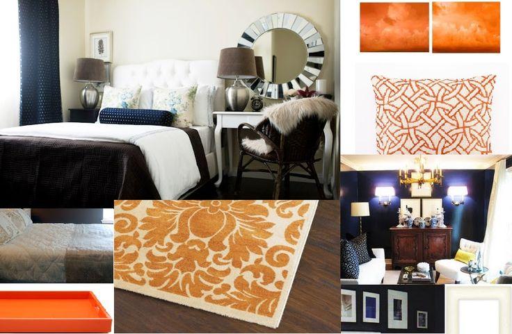 64 Best Navy Amp Orange Living Room Images On Pinterest
