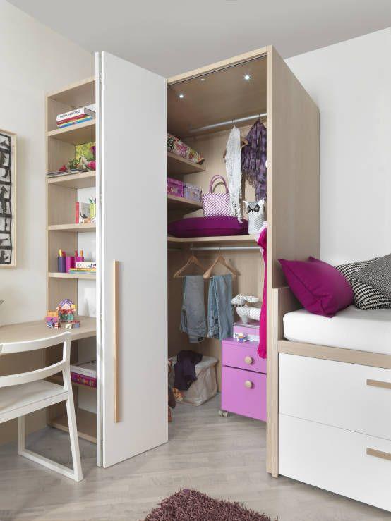 Jugend Mädchenzimmer Mit Begehbaren Kleiderschrank | flamencon.com