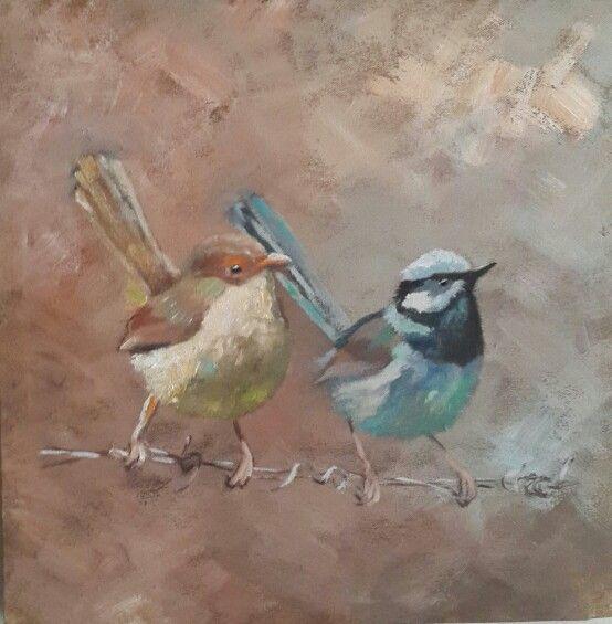 Little birds by Christine Joubert