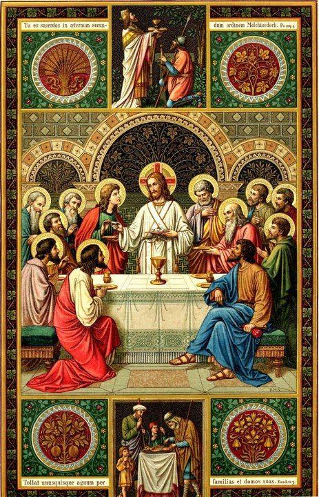 La Institución de la Eucaristía. Hagan esto en memoria mía . . .