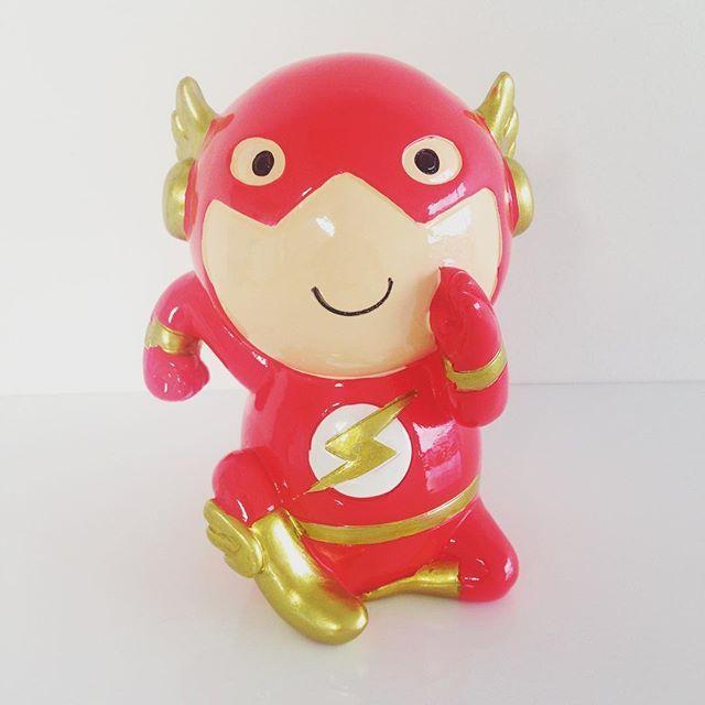 Back in a flash! #kydloves #superhero #superheromoneyboxes #theflash #christmasiscoming