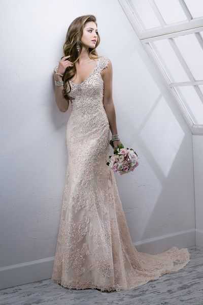 Simple yet elegant!!  Simone 4SC882  Gorgeous beaded embroidered lace on tulle featuring dazzling Swarovski crystals over separate Demir Stretch Satin slip dress...