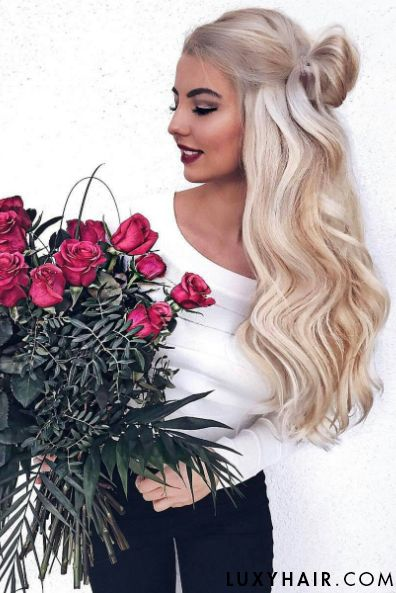 31 best luxy hair extensions images on pinterest hairstyles ash blonde luxy hair extensions on the beautiful selingga to create this voluminous half up pmusecretfo Choice Image