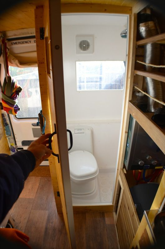Diy Van Conversion Toilet And Shower In Van Camper