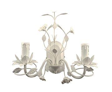 Настенная лампа - металл - белый, В33,Ш22,Д32,5