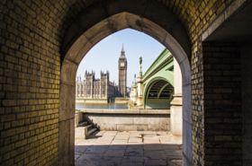 Narrow London - stock photo