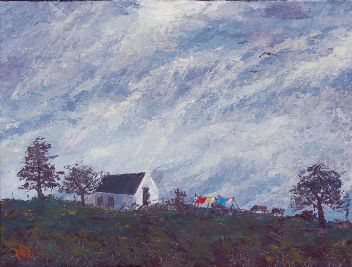 Molenrivier, Route 62 (Langkloof). Acrylics on stretched canvas. 30X40cm. R600.