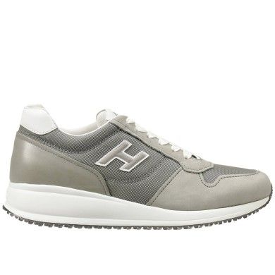 HOGAN MEN'S SHOES LEATHER TRAINERS SNEAKERS NEW CAPSULE GREY FA6