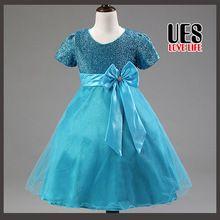 Ues preço barato Light Blue Flower Girl Dresses roxo bonito infantil Tutu vestido de verão estilo primeira comunhão vestido 2015(China (Mainland))