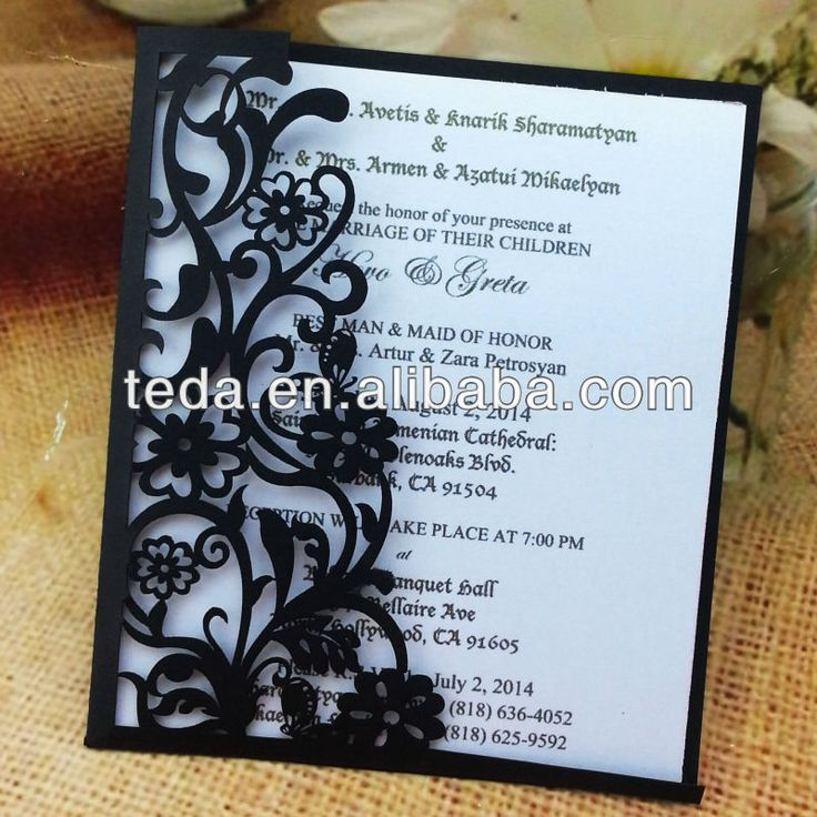 Wedding Invitation Cards Laser Cutting 13 best