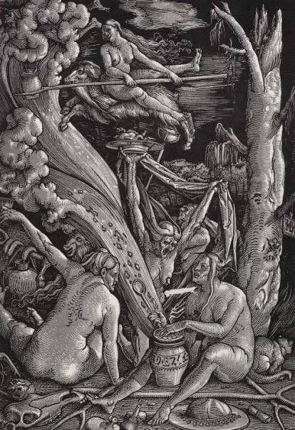 Un aquelarre visto por Hans Baldung Griën