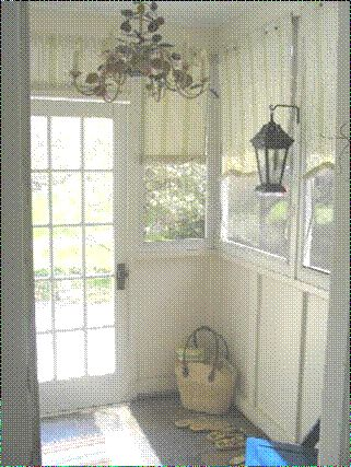 Back Porch Mudroom Area, Porch Is Enclosed And Is Very Small. It Provide A