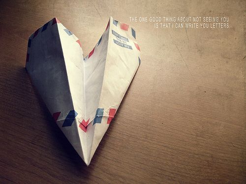 Love letters.