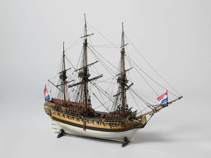 Model van een fregat van 38 stukken, anoniem, ca. 1780 - ca. 1830
