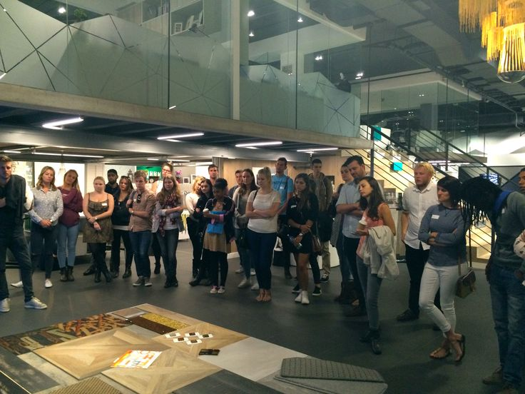 The students from @bhcdesignschool and @designtime1 take a tour around our Florstore OnTrend showroom. #interiordesign