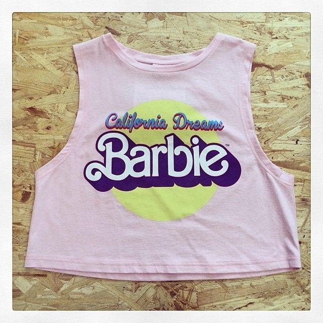 Primark Ladies Authentic Pink Barbie Cropped Top T Shirt *BNWT* Various Sizes