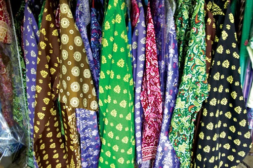 Cual is Bangka-Belitung traditional textile, dominated by golden threads & unique motifs that portray aspects of everyday life in these islands.
