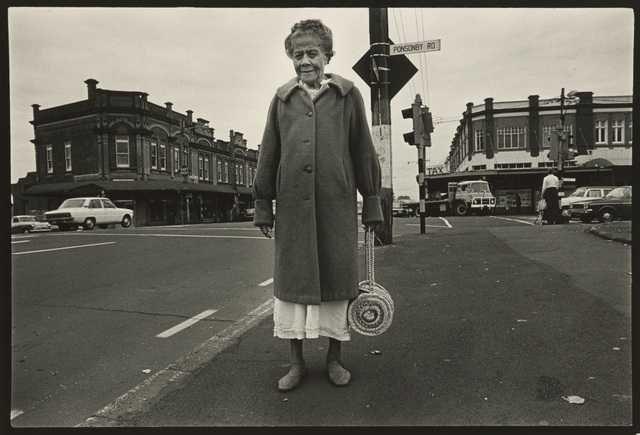 Karangahape Rd, Auckland. From the series: Karangahape Rd and Queen St, 1980. Gelatin silver print. Gift of the artist, 1983. Te Papa.