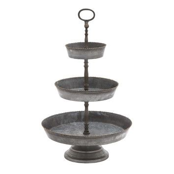 Woodland Imports 3 Tiered Metal Serving Tray - pretty!