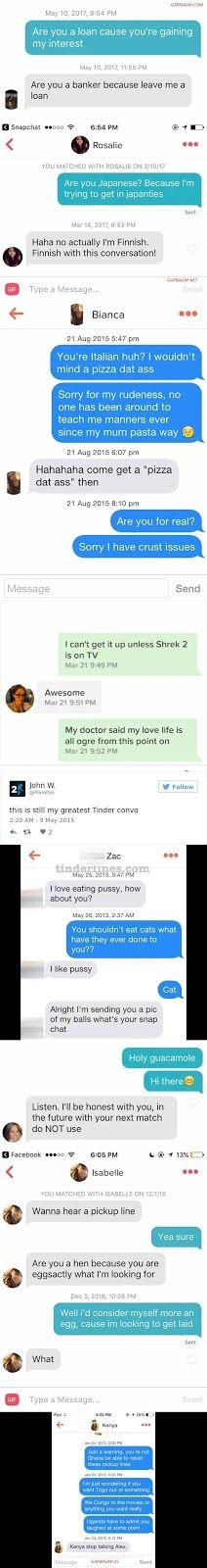Top 8 Hilarious Tinder Pickup Lines
