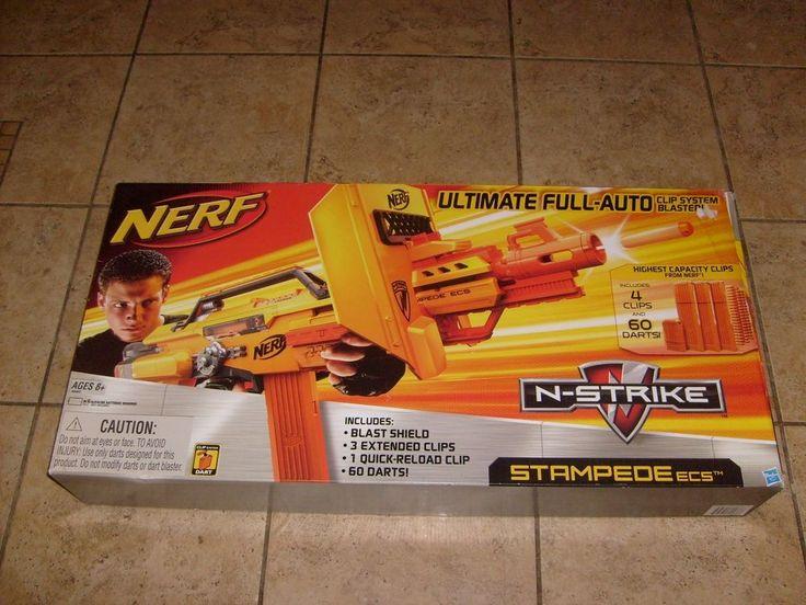 NERF STAMPEDE BLASTER N STRIKE FULL AUTO GUN RARE  BRAND NEW IN SEALED BOX  #NERF