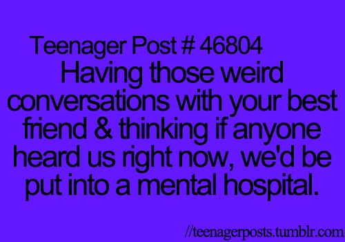 """The blog that describes your life! """"Teenager Posts"""" is a relatable blog full of witty posts, quotes,..."""