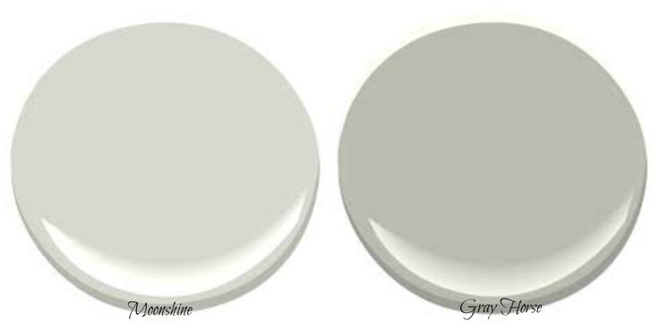 best green paint colours are benjamin moore moonshine and gray horse.   These paint colors are greens with gray undertones