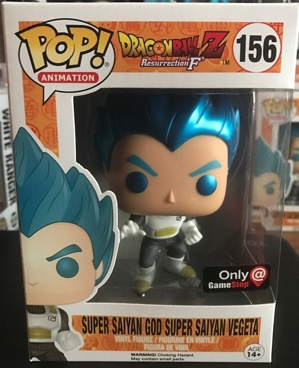Funko Pop Super Saiyan God Vegeta Metallic blue hair DRAGONBALL Z EXCLUSIVE #156 #DRAGONBALLZLIMITEDEDITION