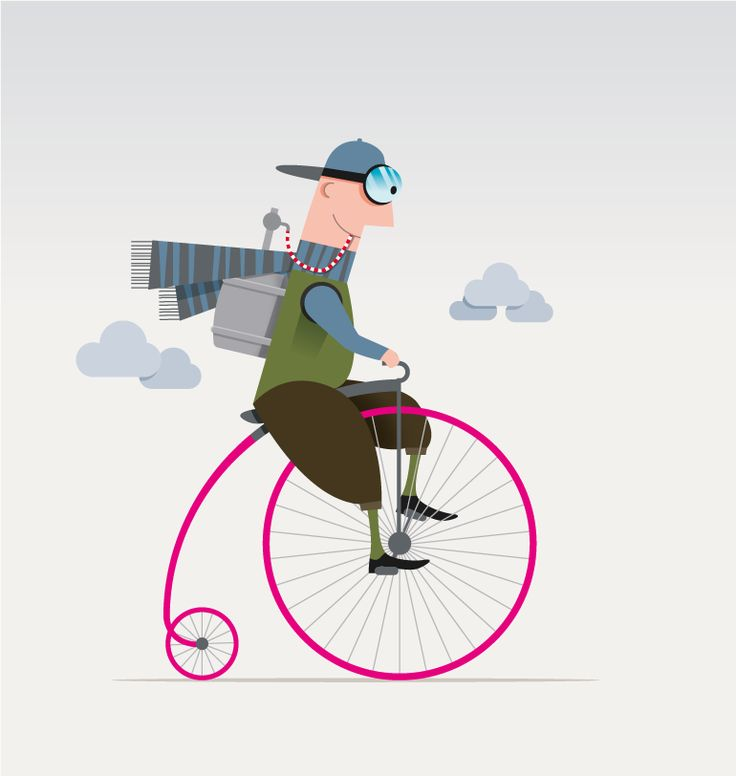 Illustration as a birthday gift to 60-year-old cyclist