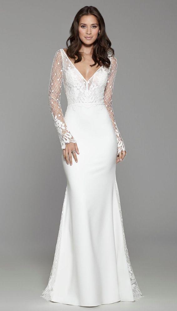 [Pretty sleeves.] Courtesy Tara Keely Wedding Dresses of JLM Couture; Wedding dress idea.