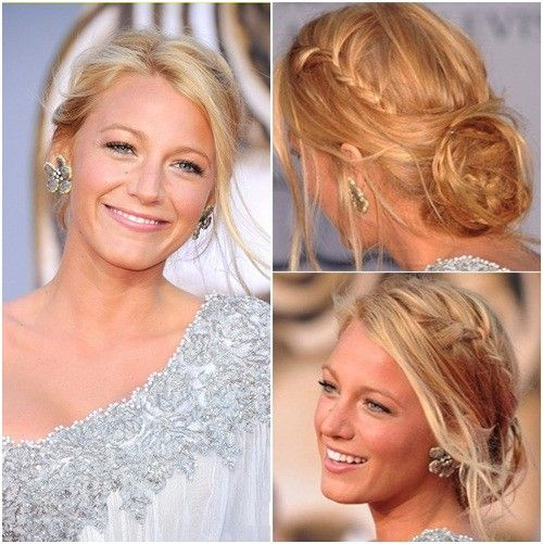Blake Lively, braided updo