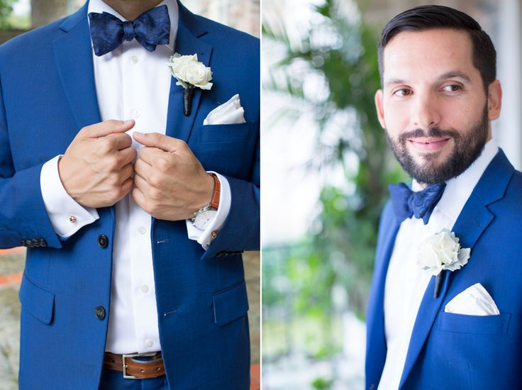 love a groom in a blue suit