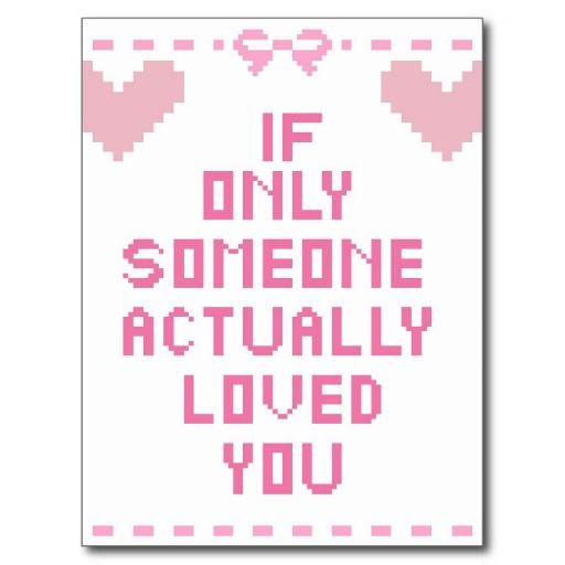 If only. Anti valentine's postcard 0.70p