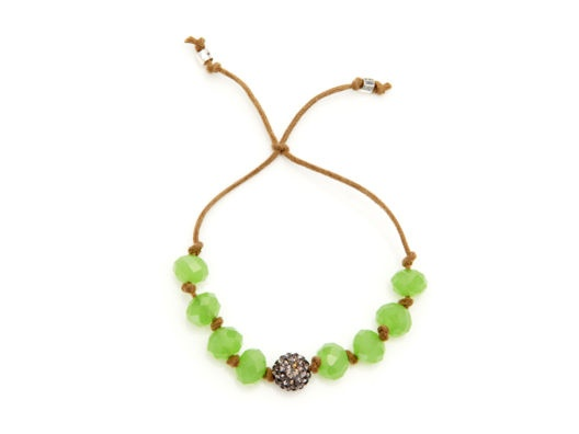 I love a beaded bracelet especially for summer. I like how this one mixes glass beads with a little sparkle and it's perfect for layering with other pieces.Beads Bracelets, Knots Bracelets, Beads Thread, Thread Knots, Knot Bracelets, Sheila Fajl, Melissa Meyers, Knots Beads, Melissa Of Arabian